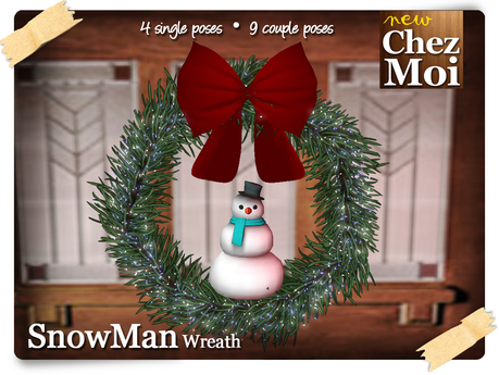 SnowMan Wreath 1.1 ♥ NEW Chez Moi
