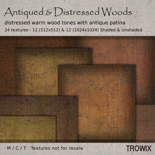 Trowix - Antiqued & Distressed Wood Textures