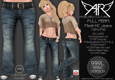 AngelRED - FULL PERM Mesh HC Jeans [BASIC VERSION]