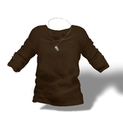 Mesh Mens Baggy Tshirt with DogTag Brown