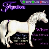 *Fig* White Horse Texture Kit 01 M/C