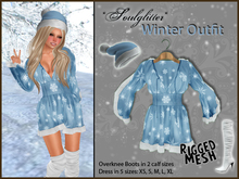 *Soulglitter* Winter Outfit: Tunic Dress + Hat + Overknee Boots