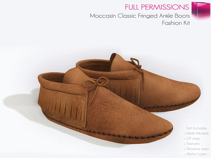 Full Perm Mesh Moccasin Classic Fringed Ankle Boots - Fashion Kit