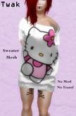 *Twak* Ladies Long Sweater Pink Kitty