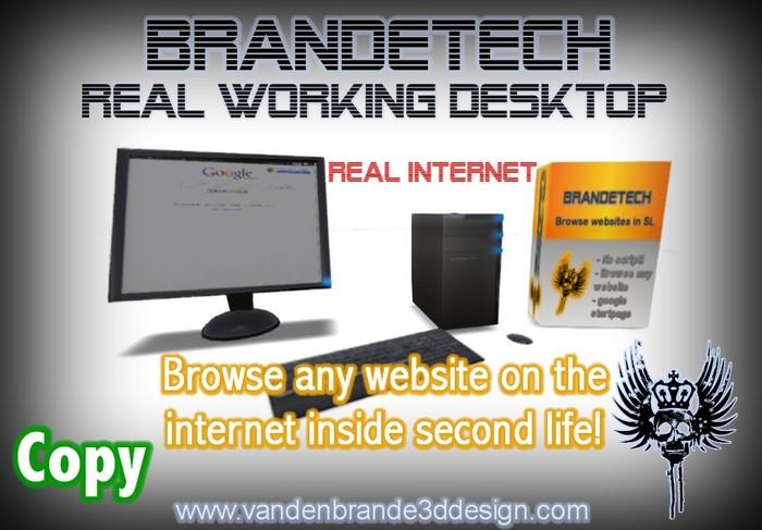BrandeTech Desktop - BROWSE REAL INTERNET INSIDE SECOND LIFE! Freebie!