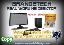 BrandeTech Desktop - BROWSE REAL INTERNET INSIDE SECOND LIFE! Freebie!