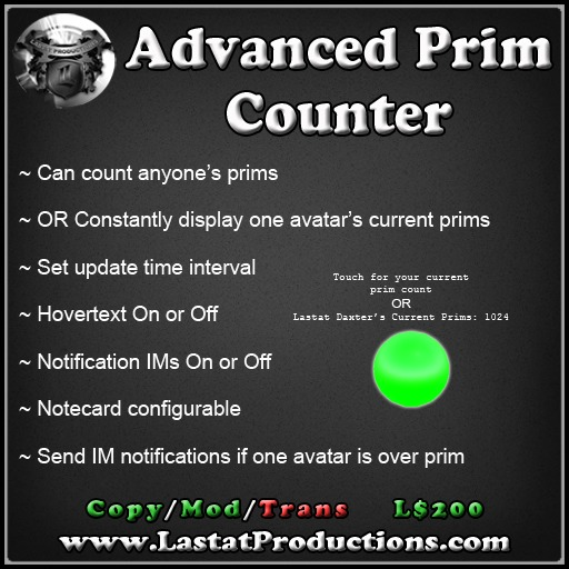 Advanced Prim Counter