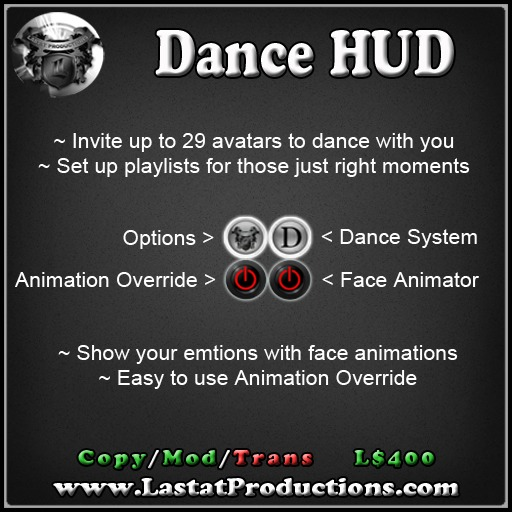 Dance HUD / Animation Override / Face Animator