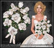 [Wishbox] Premier Rose Bouquet (White) - Wedding, Bridal, Valentine's Day gift, romantic present, sculpted baker's dozen