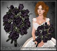 [Wishbox] Premier Rose Bouquet (Dark Purple) - Gothic Wedding, Bridal, Valentine's Day gift, present, sculpted dozen