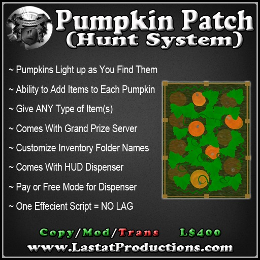 Hunt System [Pumpkin] / Pumpkin Hunt / Halloween Hunt System