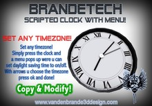 ~ FREEBIE Scripted clock with menu! Set Any timezone!