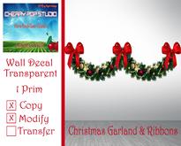[CPS] Christmas Garland & Ribbons Decal