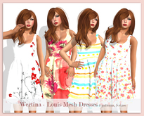 WERTINA - Louise Mesh Dress - Poppy Flower (third from the right in the pic)
