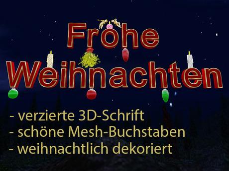 Sign Frohe Weihnachten