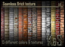 <K&S> Seamless Brick texture (15 different textures) Full Perm.