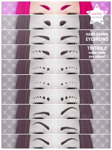 . tintable mid length eyebrows .