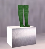 Mesh Over Knee Boots Green