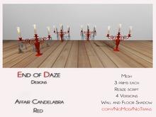EoD Affair Candelabra  RED MESH