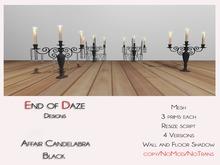 EoD Affair Candelabra BLACK MESH