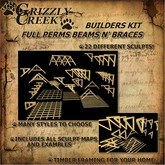 Grizzly Creek Full Perms Builders Set #1 Beams N' Braces