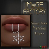 IMaGE Factory Snowflake Lip Piercing Sliver