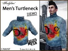 DEMO *Soulglitter* Men's Turtleneck