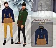 CREDO - 'Mackintosh Clisham Jacket' Navy Blue/Khaki
