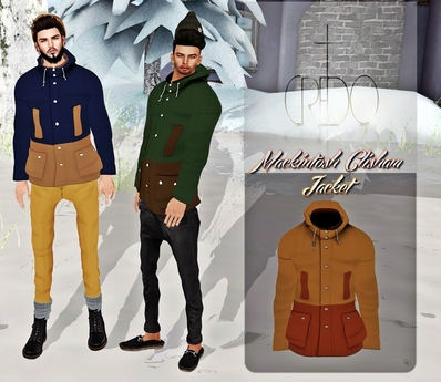 CREDO - 'Mackintosh Clisham Jacket' Khaki/Burnt Umber