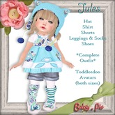*Baby Pie* Jules Toddleedoo Avatar Girl's Colorful Complete Outfit