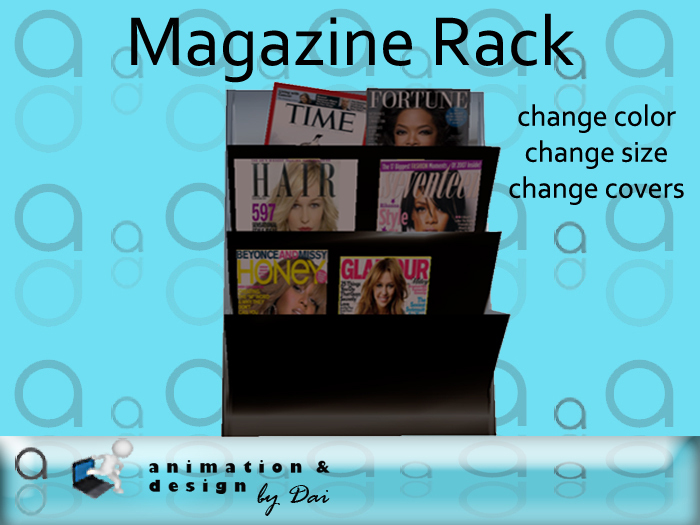 Salon - Magazine Rack --- copy/modify