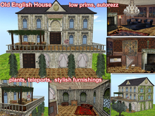 Old English House LOW PRIMS auto rez - discounted