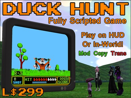 Duck Hunt Game (HUD or In-World).