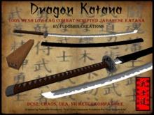 Bushido Series Dragon Katana V1.0 - Mesh Combat Scripted Sword