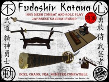 Fudoshin Katana V1.0 - Mesh Combat Scripted Japanese Katana, Classic Samurai Sword