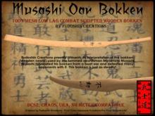 Musashi Oar Bokken V1.0 - Mesh Combat Scripted Japanese Bokken