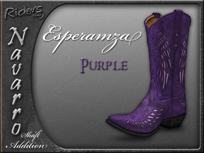 Riders Navarro Shaft Boots Add-On (Esperamza/Purple)