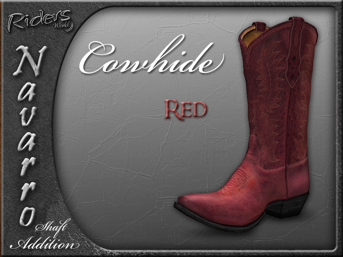 Riders Navarro Shaft Boots Add-On (Cowhide/Red)