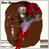 ((Crystal line))Rose Bouquet Red