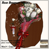 ((Crystal line))Rose Bouquet White