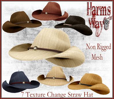 Harm's Way Straw Hat 7 texture change