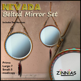 Masculine and Sophisticated -  Nevada Belted Mirror Set