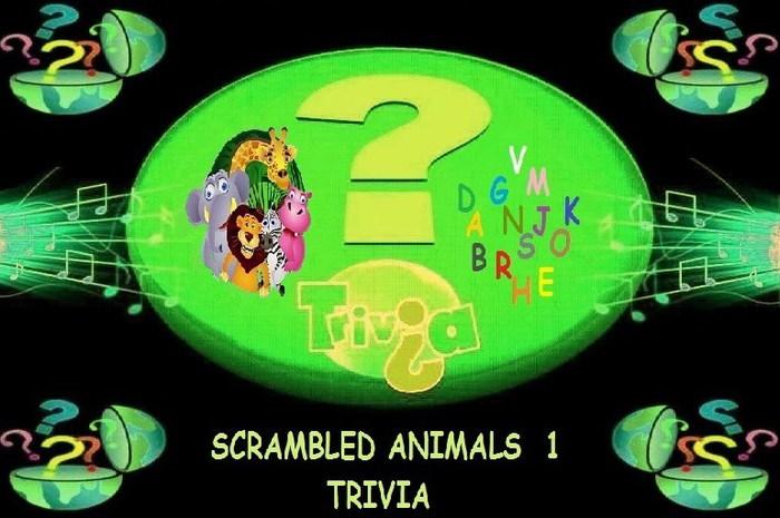 Scrambled Animals Trivia 1