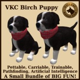 VKC Birch Puppy (Mixed Breed) - Artificially Intelligent (AI) Pathfinding Trainable Dog - No Food Required