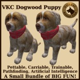 VKC Dogwood Puppy (Mixed Breed) - Artificially Intelligent (AI) Pathfinding Trainable Dog - No Food Required - VKC Dogs