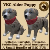VKC Alder Puppy (Mixed Breed) - Artificially Intelligent (AI) Pathfinding Trainable Dog - No Food Required