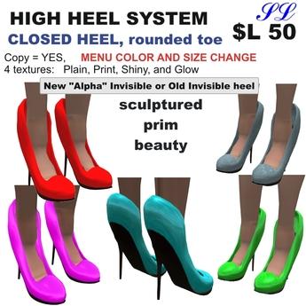 OnP heels closed heel less pointy