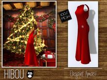*Hibou* Elegant Xmas Dress Red MESH