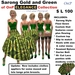 OnP Elegance Sarong Gold Green