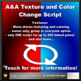A&A Texture and Color Change Script ( full permission ) 2.2, boxed